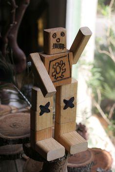 wooden block robot