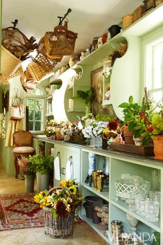 Flower Room - seriously, who has space for a flower room? This is lovely though...
