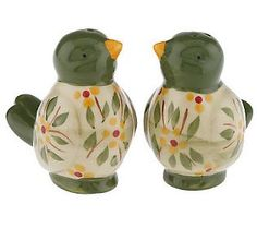 Temp-tations Old World Love Birds Salt & PepperShakers - QVC.com