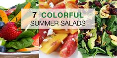 7 Colorful Summer Salads #recipe #healthy #beachbody