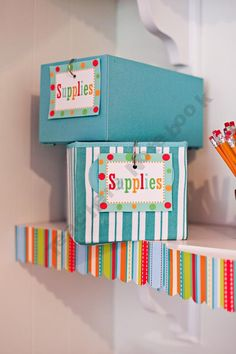Schoolgirl-Style Shop - | Teachers Notebook. Cute way to organize your classroom with the Dots on Turquoise collection by CTP!