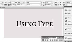 Using Type: InDesign Defaults #fontshop #typography