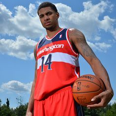 Glen Rice Jr. of the Washington Wizards poses for a portrait during the 2013 NBA Rookie Photo Shoot on August 6, 2013 at the MSG Training Facility in Tarrytown, New York. (Photo by Jesse D. Garrabrant/NBAE via Getty Images)