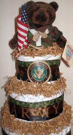 BABY SHOWER~Military diaper cake