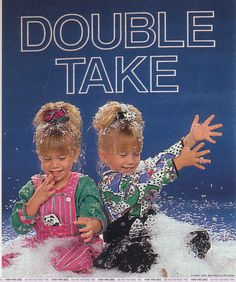 "From a 1990 ""TV Guide"": Is Michelle Tanner eating the fake snow? 