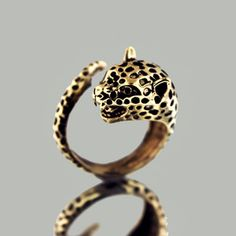 Cheetah Wrap Ring.  Obsessed