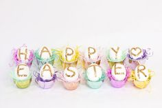 Un poco de destello y un mensaje para la Pascua / A bit of sparkle and a friendly message for Easter
