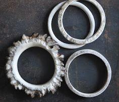 naturally shed moose antler bracelets | lostwaxstudio.com