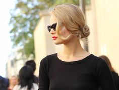 classic hair + red lips