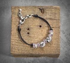 Pink Label Beaded Bracelet