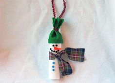 "Rolled felt snowman... How about ""There's snow-one like you!"" as a leader gift to a Scout?"
