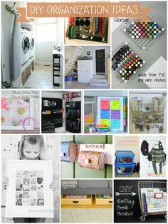 DIY Organization Ideas - So many great ideas here.