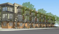 The East Quincy Townhomes are a 25-unit project that will offer 1-, 2- and 3-bedroom homes for sale. The project is south of the Pearl Brewery near the Museum Reach of the San Antonio River. / SA