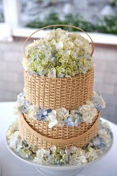 wicker baskets, weddings, flower cakes, flower baskets, wedding cakes