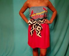 St. Louis Cardinals Game Day Dress - So Cute with Chevron