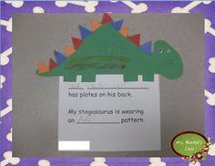 Stegosaurus Plate Pattern Activity