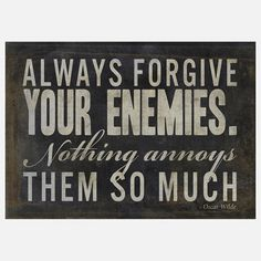 Always Forgive Your Enemies now featured on Fab.