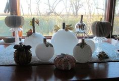 Glassy, classy pumpkin globes Your new harvest centerpiece...