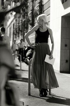 light maxi skirt