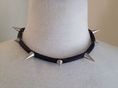 ANKH Spike it Hi LO rubber collar necklace on Etsy, $145.00