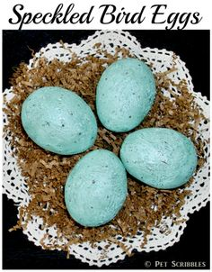 Speckled Bird Eggs Tutorial - an easy DIY that's perfect for Spring!