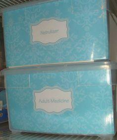 laminated labels for clear containers  - für den Hauswirtschaftsraum -
