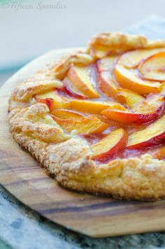 Fresh Peach Crostata Recipe from @Shonda Clements Clements Clements Chadwick Spatulas | Joanne Ozug #recipe #dessert #peach