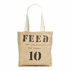 FEED 10 Burlap Tote