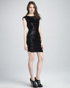 Frankie Sequined Minidress by Alice+Olivia at Neiman Marcus