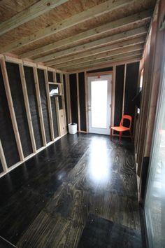 look at those plywood floors!