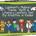 Community Helpers Unit:  Math, Literacy, and Social Studies Centers!  This contains 91 pages of activities and printables.  $