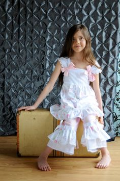Shabby Chic Vintage Sweet ruffled boutique dress with by SoSoHippo, $85.00