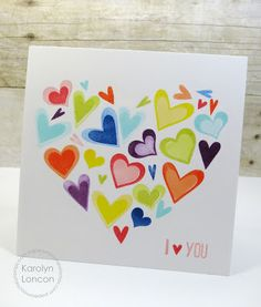 valentin card, stamp sets, card inspir, paper smooches, heart shapes, valentine cards, inspir idea, karolyn loncon, papersmooches