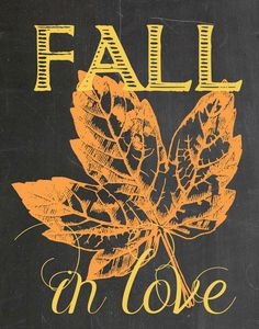 fall in love chalkboard printable