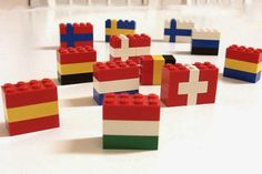 Lego flags of the world.