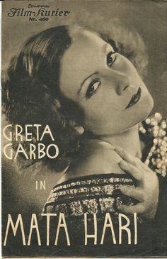 Greta Garbo on Vintage Film Magazine