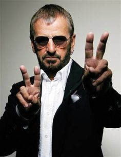Ringo Starr, my twin. Join us on 7/7 at noon. It's all about peace and love.