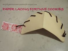 Fortune cookie lacing...