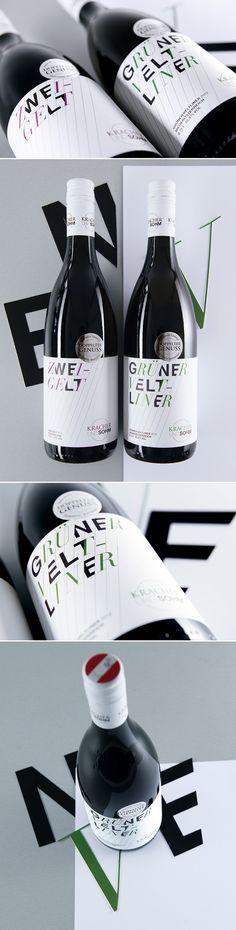 KRACHER UND SOHM // Packaging: By www.strobl-kriegner.com #packaging #design #creative #packagingdesign #corporate #branding #marketing #wine #bottle #typography #typo  #taninotanino #vinosmaximum