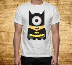 Batman Minion Parody inspired for man and woman t shirt clothing t-shirt on Etsy, $18.00
