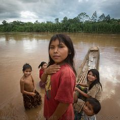 Photo by @paleyphoto (Matthieu Paley) - Meet the #Tsimane, a #hunter-gatherer community of the Bolivian #Amazon. Here, the Nate family is having their evening bath in a tributary of the Amazon. It took us two days by dug-out canoe to get up here.  I will be here for the next week, documenting their lifestyle and food habits. This is part two of my @Natalie Jost Brewer story on the #Evolution of #diet - how we are what we ate - coming out soon. #latergram @thephotosociety #Padgram