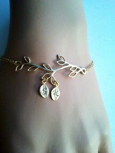 PERSONALIZED INITIAL Gold Tree initial Bracelet