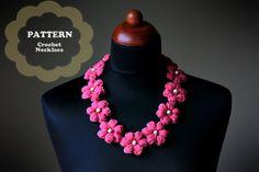Crochet Flower Necklace  PDF Pattern by ZoomYummy on Etsy, $3.90