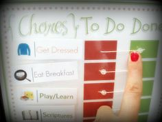 easy & simple chore chart for toddlers