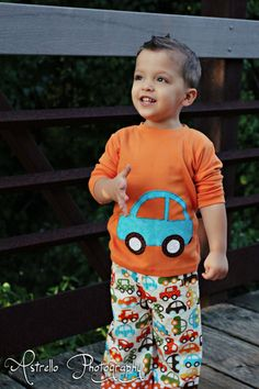 Car Outfit - Boys Outfit - Shirt and pants - Car Applique - Baby Boys Clothes - Boys Toddler Outfit on Etsy, $28.00