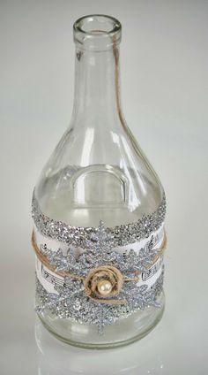 DIY Winter Decorative Bottle