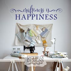 Craftiness Is Happiness: Lacy Bella | Personalized Vinyl Lettering and Wall Decals. See more unique and whimsically design wall decal stickers from Lacy Bella Designs at www.lacybella.com
