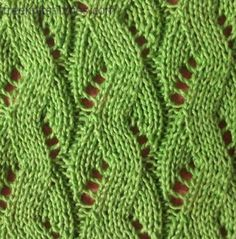 Sea knitting stitch