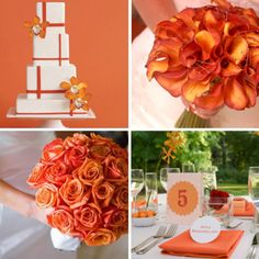 Tangerine wedding theme