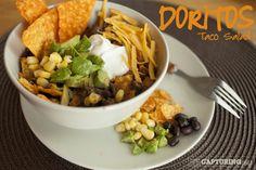 chips, black beans, salad recipes, dinners, avocado, bells, dinner meals, delici recip, dorito taco salad